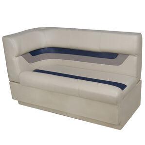 Toonmate Designer Pontoon Right-Side Corner Couch - TOP ONLY - Platinum/Midnight/Mocha