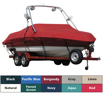 Exact Fit Covermate Sunbrella Boat Cover For MALIBU SUNSETTER 21 5 XTi w/TITAN 3 TOWER Doesn t COVER PLATFORM