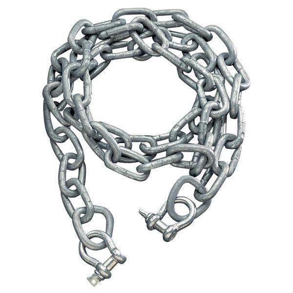 "Galvanized Anchor Chain, 1/4"" x 6' Chain"