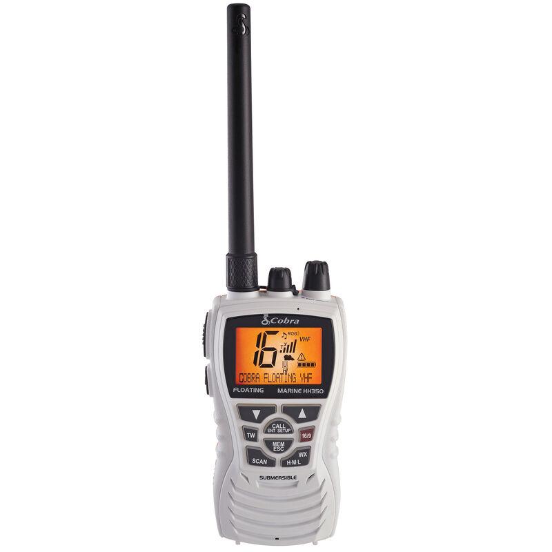 Cobra MR HH350 FLT Floating Handheld VHF Radio, White image number 1