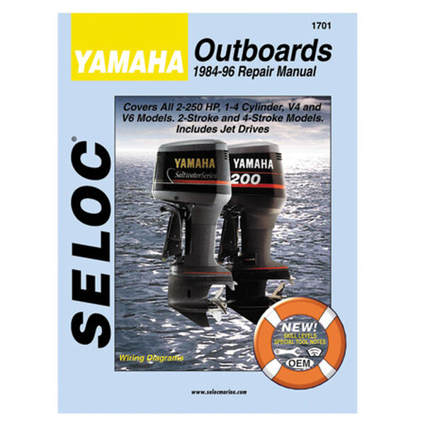 Seloc Marine Outboard Repair Manual for Yamaha '84 - '96