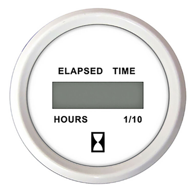 "Faria 2"" Chesapeake Digital Hourmeter, White image number 1"