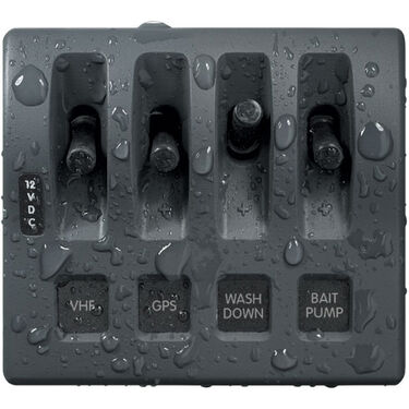 Blue Sea Systems WeatherDeck 12V DC Waterproof Switch Only Panel, 4 Positions