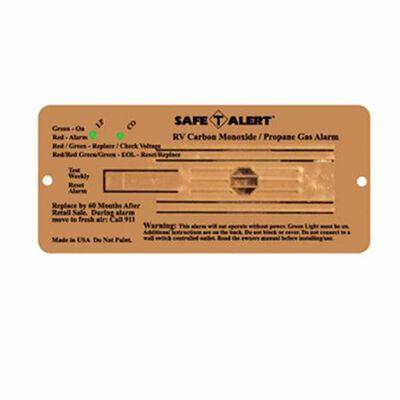 Safe-T-Alert 35 Series Flush Mount Dual LP & Carbon Monoxide Alarm, Brown