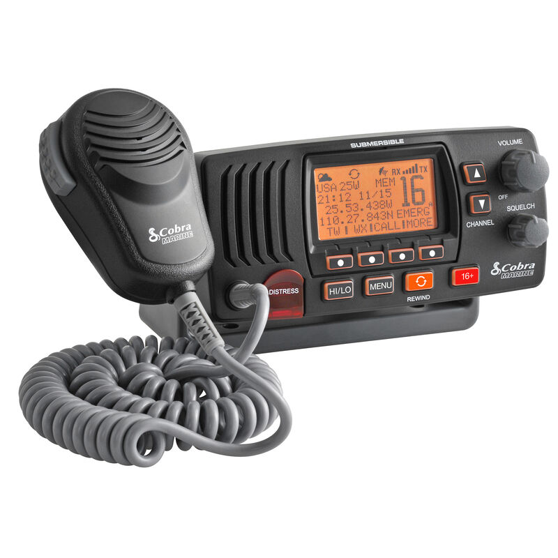 Cobra Marine MR F57 Class-D Fixed-Mount VHF Radio, black image number 2