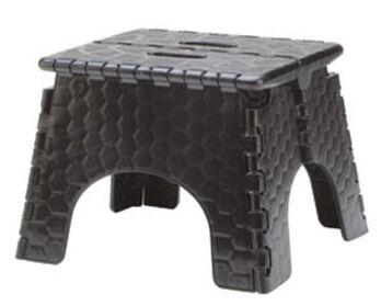"""E-Z Foldz Folding Step Stool, 9"""" - Black"""