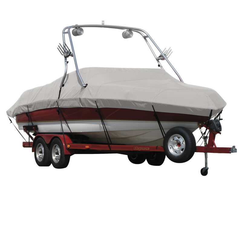 Exact Fit Covermate Sharkskin Boat Cover For SEA RAY 200 SUNDECK w/XTREME TOWER image number 2