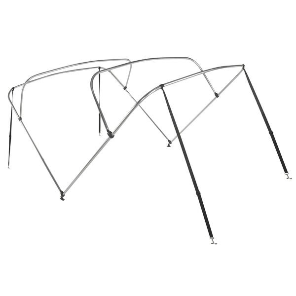 "Shademate Bimini Top 4-Bow Aluminum Frame Only, 8'L x 54""H, 67""-72"" Wide"
