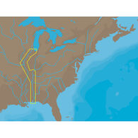 C-MAP NT+ NA-C047, Inland Circle Route: Chicago To Mobile