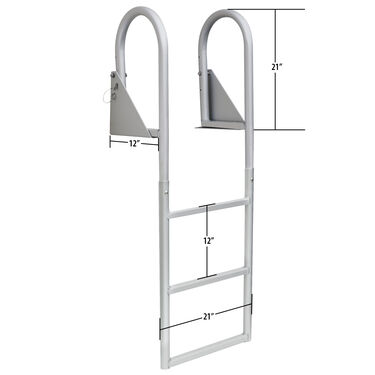 Dockmate Standard 3-Step Flip-Up Dock Ladder