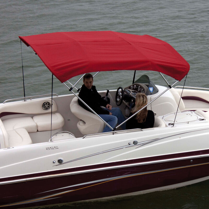 """Shademate Polyester 4-Bow Bimini Top, 8'L x 54""""H, 73""""-78"""" Wide image number 2"""