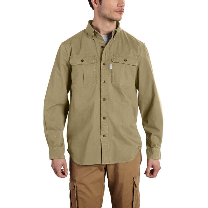 Carhartt Men's Foreman Solid Long-Sleeve Work Shirt image number 1