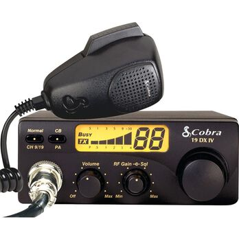 Cobra - 40 Channel Compact CB Radio with Illuminated LCD Display