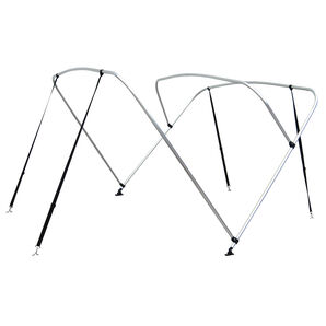 "Shademate Bimini Top 3-Bow Aluminum Frame Only, 6'L x 36""H, 91""-96"" Wide"