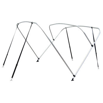 """Shademate Bimini Top 3-Bow Aluminum Frame Only, 6'L x 54""""H, 73""""-78"""" Wide"""