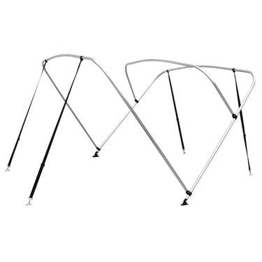 """Shademate Bimini Top 3-Bow Aluminum Frame Only, 6'L x 54""""H, 79""""-84"""" Wide"""