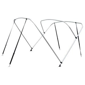 "Shademate Bimini Top 3-Bow Aluminum Frame Only, 6'L x 46""H, 79""-84"" Wide"