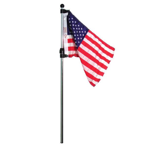 Flag Pole With American Flag