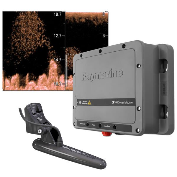 Raymarine CP100 CHIRP / DownVision Sonar Module With CPT-100 Transducer
