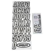 Hardline 800 Series Clear/Black Registration Kit, Beveled 3D Font