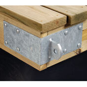 "Standard-Grade 3/16"" Floating Dock Hardware - Male Outside Corner"