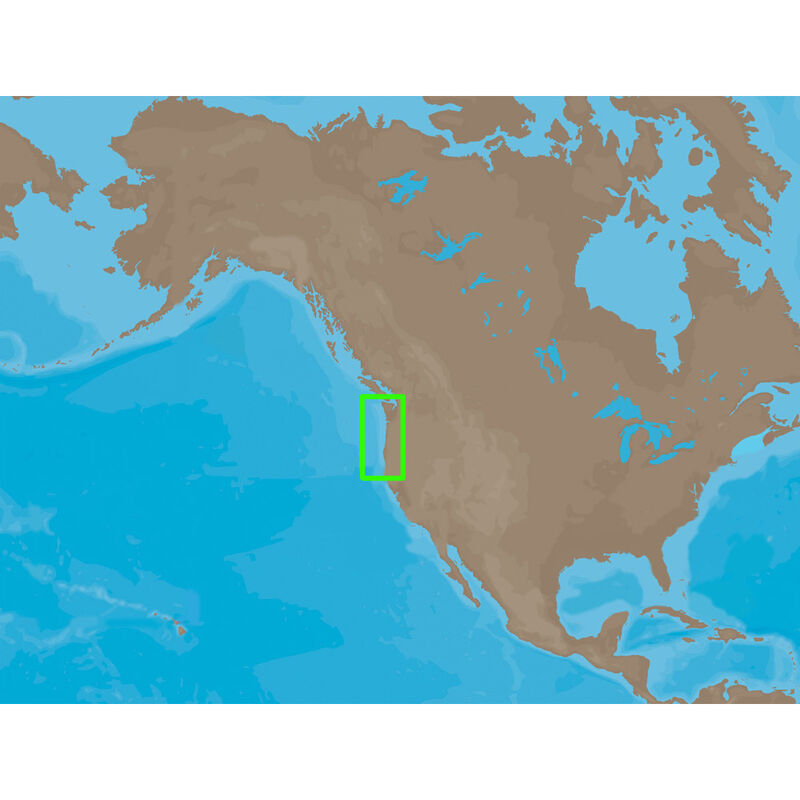 C-MAP NT+ NA-C047, Coos Bay To Cape Flattery: Bathymetric image number 1