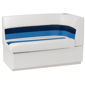 Toonmate Deluxe Pontoon Left-Side Corner Couch - TOP ONLY - White/Navy/Blue