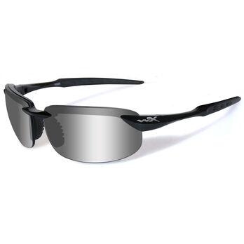 Wiley X WX Tobi Sunglasses, Gloss Black Frame/Silver Flash Lens