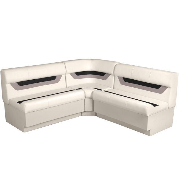 "Designer Pontoon Furniture - 61"" Rear Wraparound Package, Platinum/Black/Mocha"