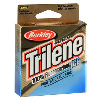 Berkley Trilene 100\\% Fluorocarbon Ice Line, Clear, 75 Yards