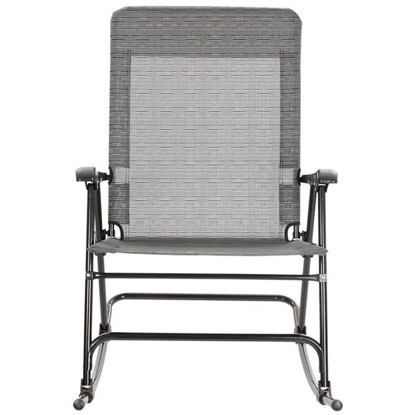 Metallic Mesh Rocker Chair