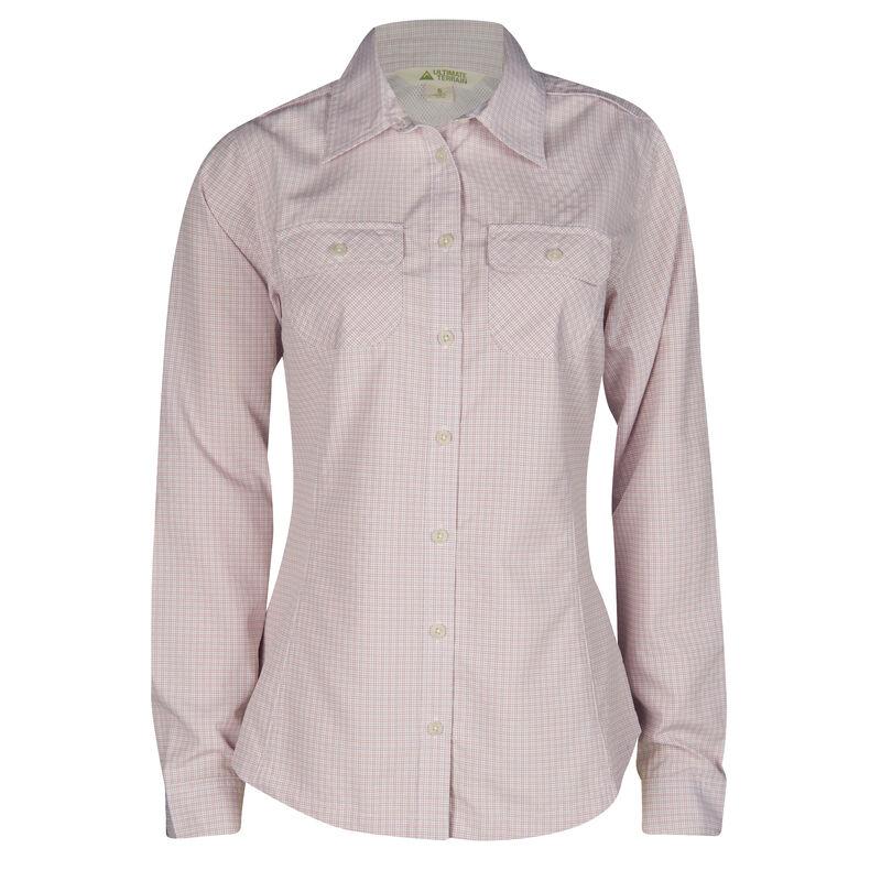 Ultimate Terrain Women's Trailhead Bug Repel Long-Sleeve Plaid Shirt image number 1