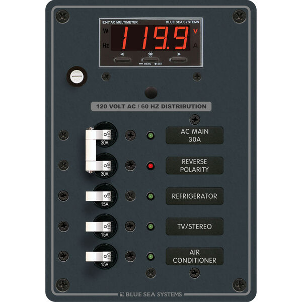 Blue Sea Systems AC Main +3 Positions Panel