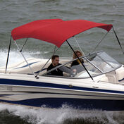 """Bimini Top Sunbrella Fabric and Boot Only, 3-Bow 6'L, 46""""/54""""H, 61""""-66""""W Red"""