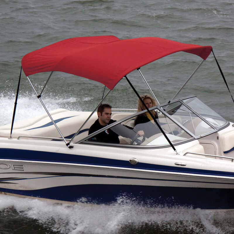 """Bimini Top Sunbrella Fabric and Boot Only, 3-Bow 6'L, 46""""/54""""H, 61""""-66""""W Red image number 1"""