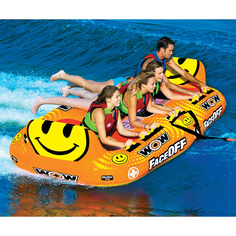 Wow Faceoff 4-Person Towable Tube image number 4