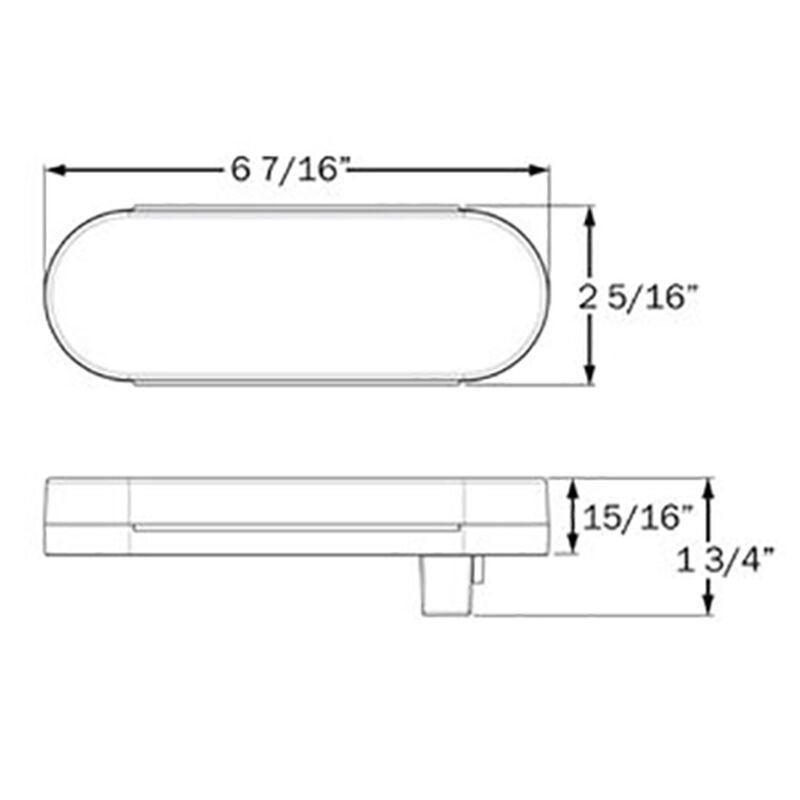 "Optronics GloLight 6"" Oval LED Taillight Kit image number 2"
