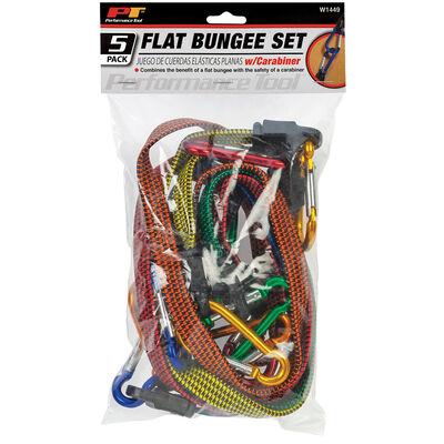 Performance Tool Flat Bungee Set, 5-Pack