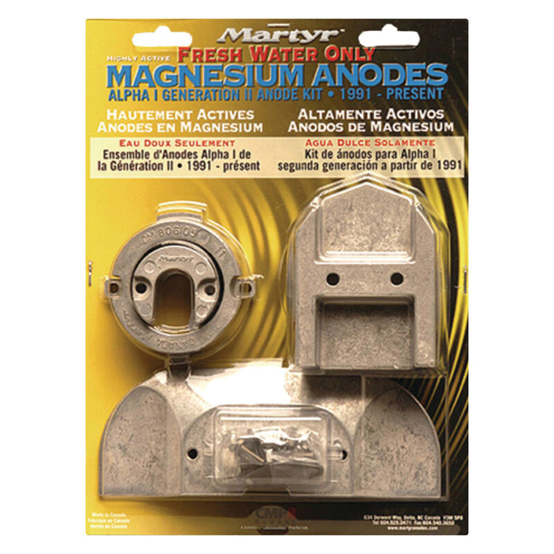 Martyr Mercury Anode Kit for Alpha I Generation II Engines, 1991-Present - Mg image number 1
