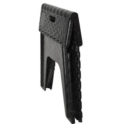 """E-Z Foldz Folding Step Stool, 12"""" - Black"""