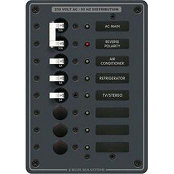 Blue Sea 230V AC Main + 6 Position Circuit Breaker Panel