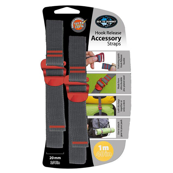 """Sea To Summit Accessory Straps with Hook Release, 40"""""""