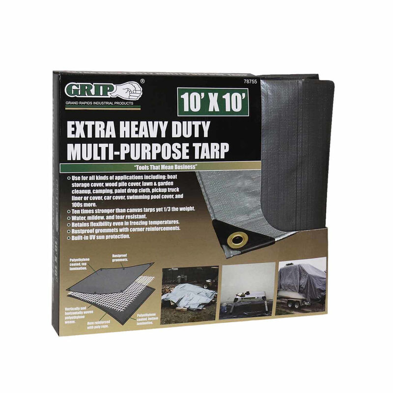 Grip On Tools Heavy Duty Multi-Purpose Tarp, 10' x 10' image number 1
