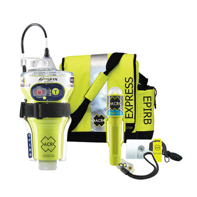 ACR GlobalFix; V4 Category 2 w/Rapid Ditch Bag, C-Strobe, H2O Signal, Mirror, Rescue Whistle Survival Kit