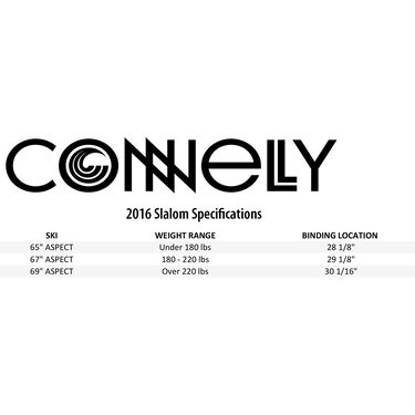 Connelly Men's Aspect Slalom Waterski With Nova Binding And Rear Toe Plate