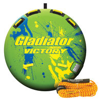 Gladiator Victory 1-Person Towable Tube Package With Tow Rope