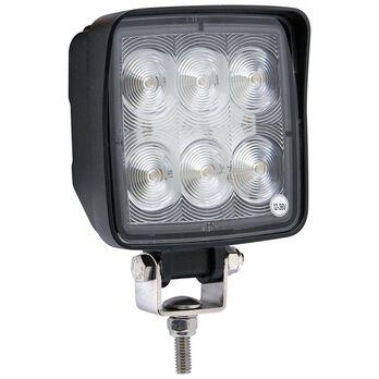LED Mini Rectangle Tractor Light; 325 Lumens; 3 HP Diodes, Cast Iron Aluminum Housing; Flood; Steel hardware