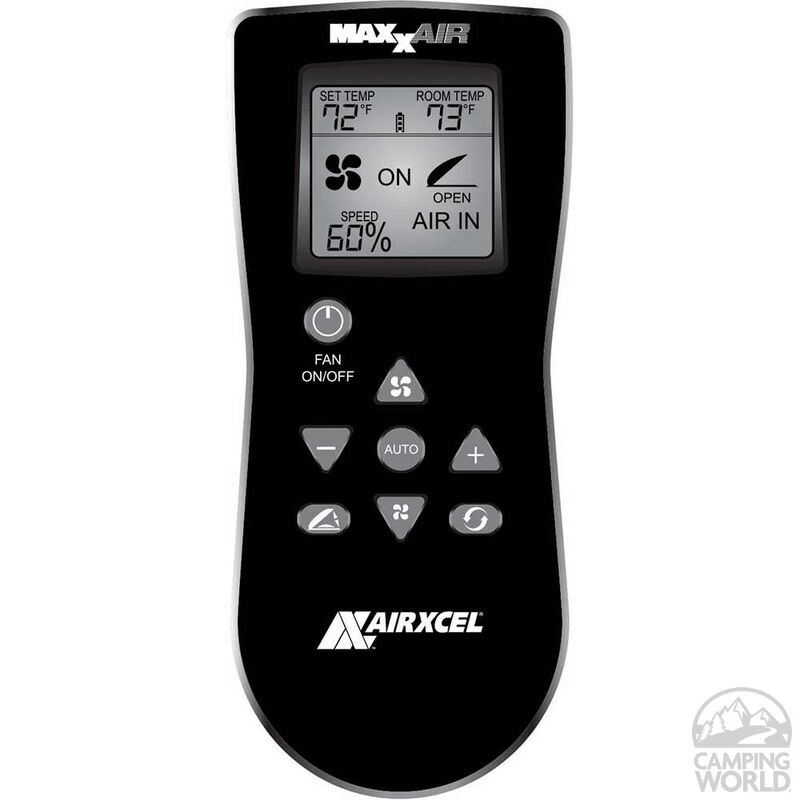 MaxxFan Deluxe Remote Control RV Ventilator System, Smoke Lid image number 3