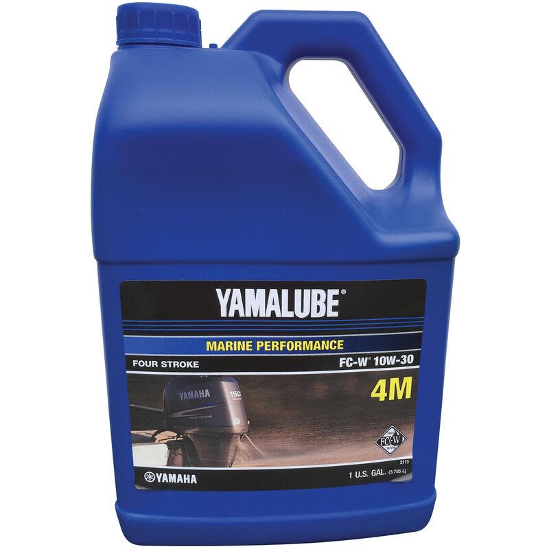 Yamaha Yamalube 4M 4-Stroke Outboard Engine Oil, Gallon image number 1