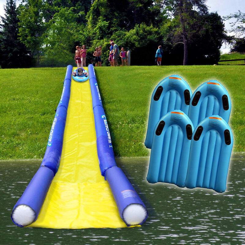 Rave Turbo Chute Hill and Lake Water Slide Package image number 1
